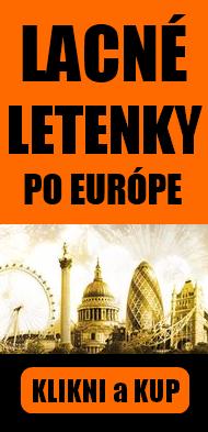 lacné letenky po Europě